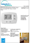 Islandaire 2 Stage Thermostat Specs