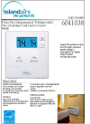 Islandaire Pro1 Wired Thermostat Specs